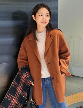 Nappy half handmade coat_S (울 90%) (size : free)