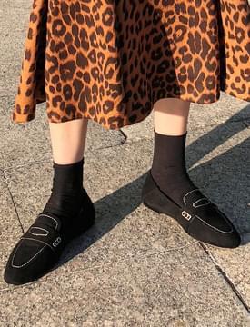 Stitch suede penny loafer_K (size : 225,230,235,240,245,250)