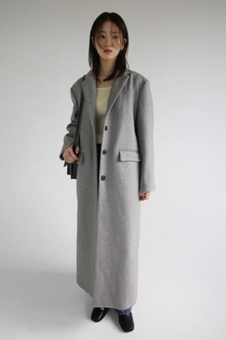 single stylish long coat (2colors)
