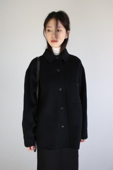 button wool short coat (2colors)
