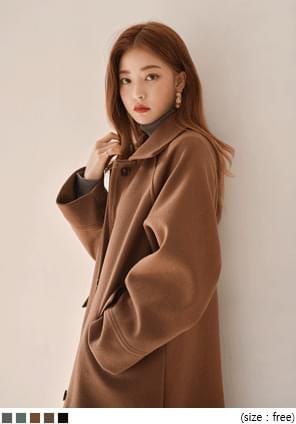 NORDIC WOOL RAGLAN LONG COAT