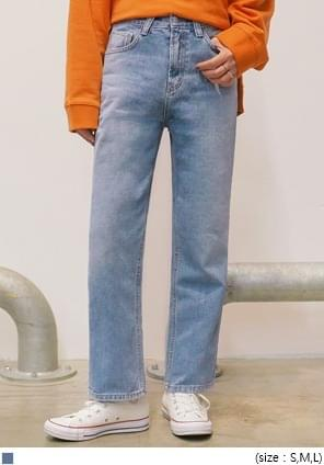 EASY STRAIGHT WIDE DENIM PANTS