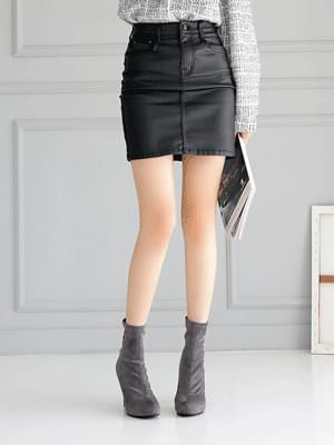 Lefond Leather Skirt