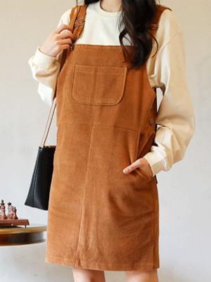 Brick suspenders dress