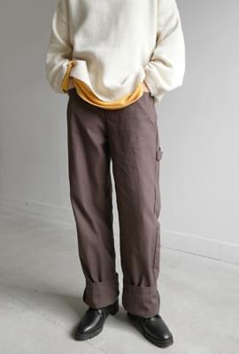Cargo wide cotton pants