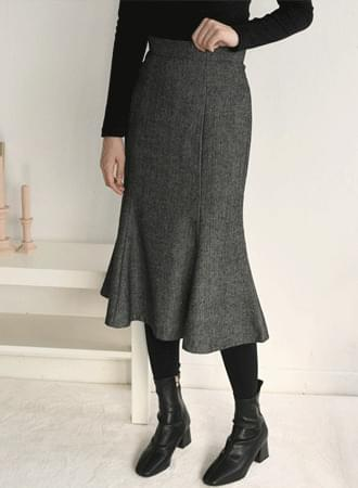 Elin herringbone wool skirt