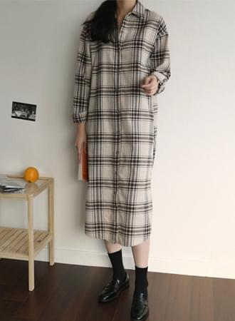 Harry check shirt dress