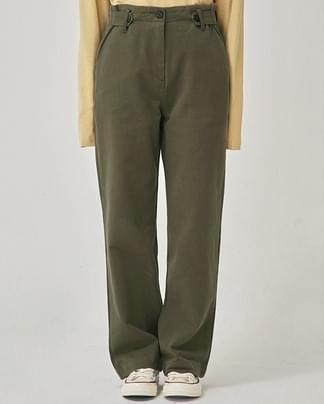 side button cotton pants