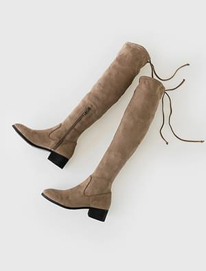 suede high boots