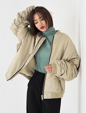 loose fit fur detail ma-1 jumper