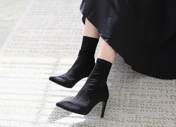 Suede Socks Heel 9cm