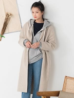 hide button simple coat