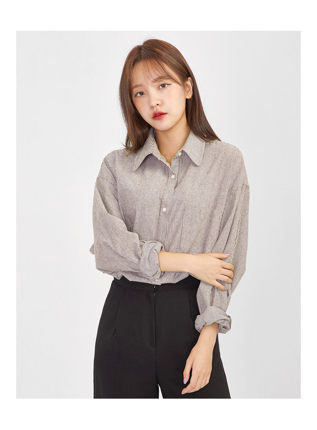 july stripe over fit shirts