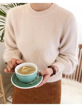 Angora puff round knit_K (앙고라 58%) (size : free)