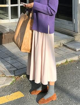 Out napping long skirt_M (size : free)