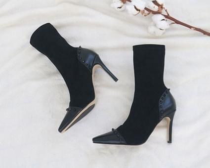 Moenic Stud Socks Ankle Boots
