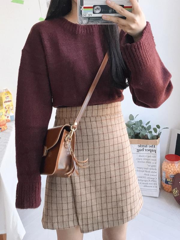 Cream goat button skirt