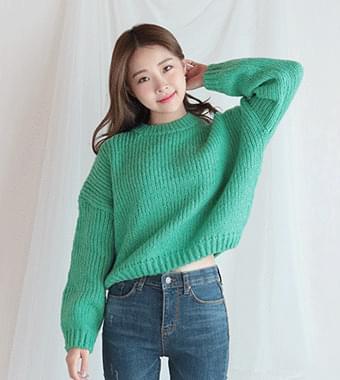 Powder crop knit