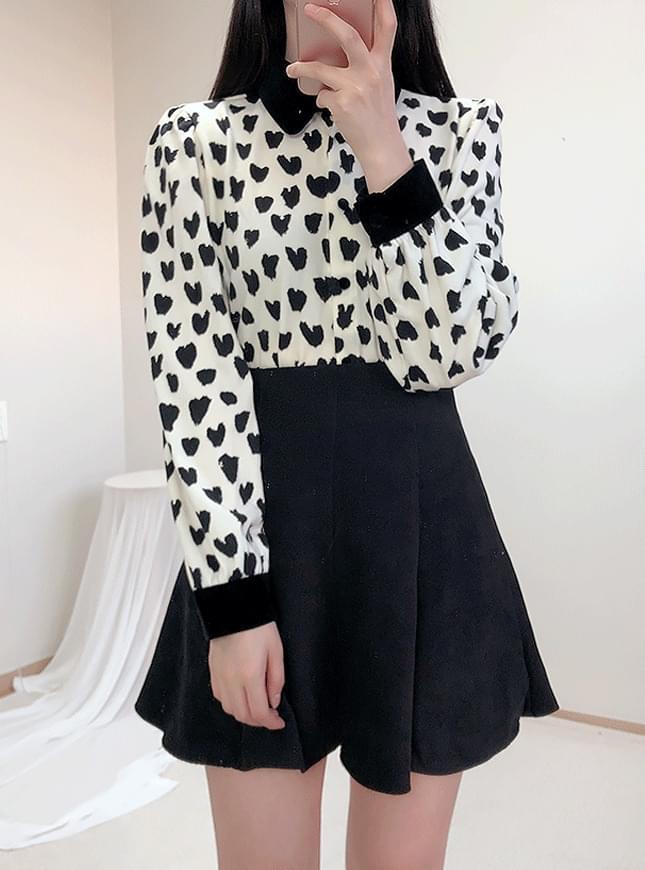 ♥ hot velvet blouse