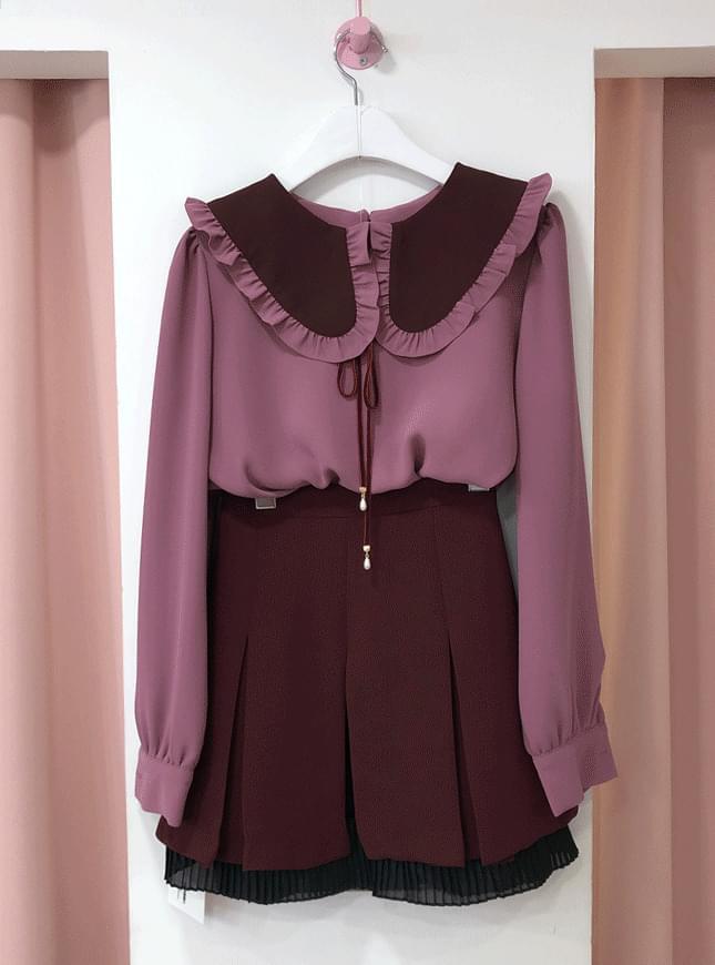 ♥ Pudding frilly Kara blouse