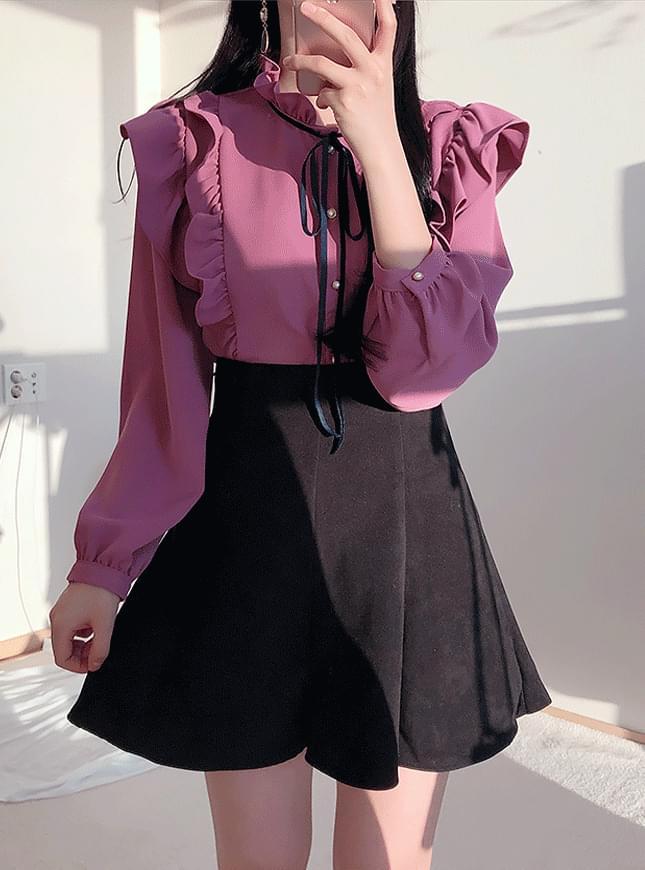 ♥ macaroons velvet mini sk