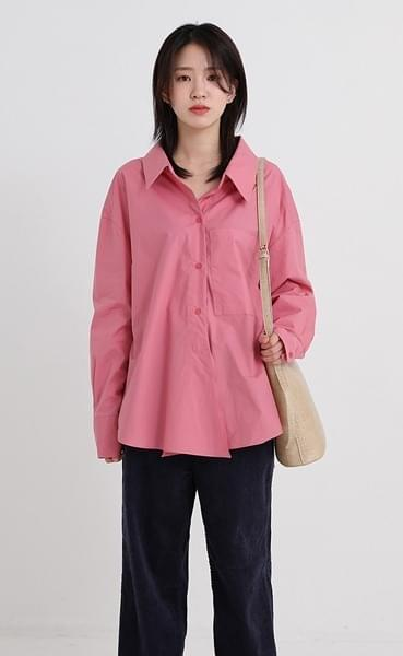open collar boxy shirt (4colors)