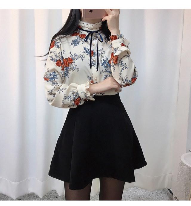Self made ♥ Dia flower blouse