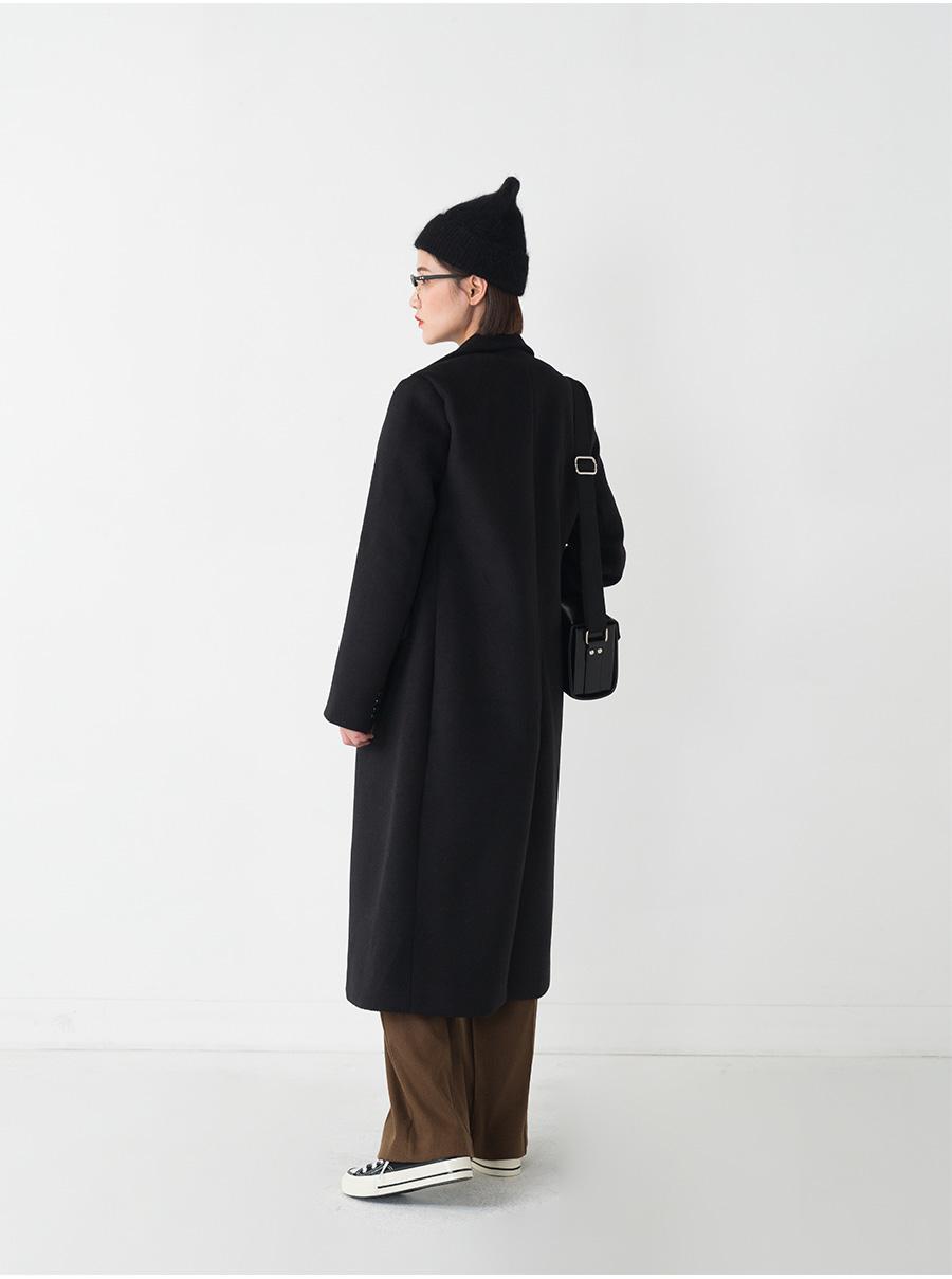 slim silhouette double coat