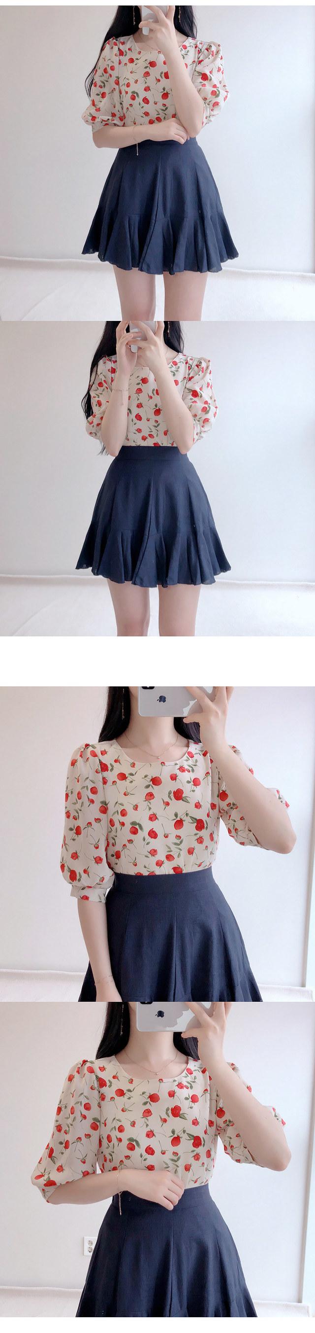Melan flower blouse