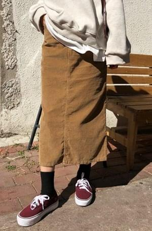 Kind-golden long skirt