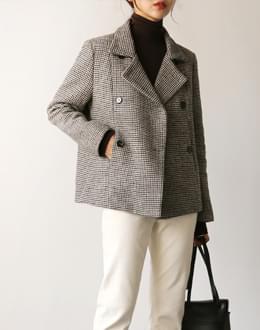 Mini wool short coat