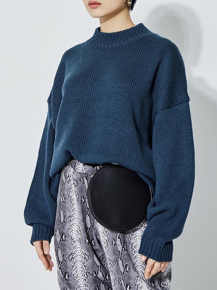 oversized round knit (6 color) - UNISEX