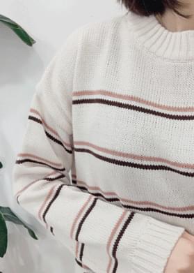Double line line knit