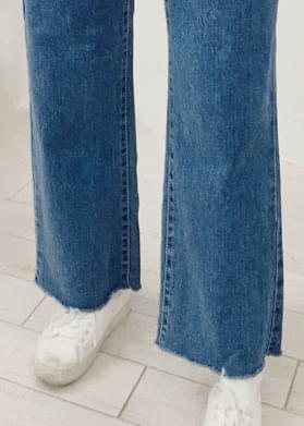 High-waist cut wide pants