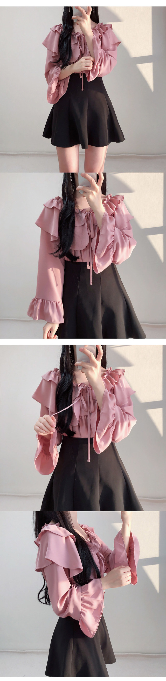 In-house production, order runaway ♥ cankon ruffle blouse