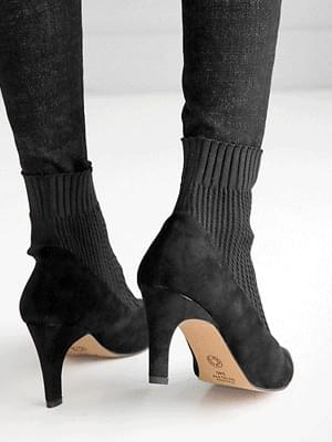 Tulip Span Ankle Boots 7.5cm