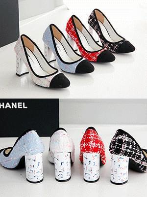 Gossip Girl Tweed High Heels 8.5cm
