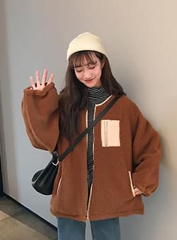 Shibori Color Fleece Fleece Jumper