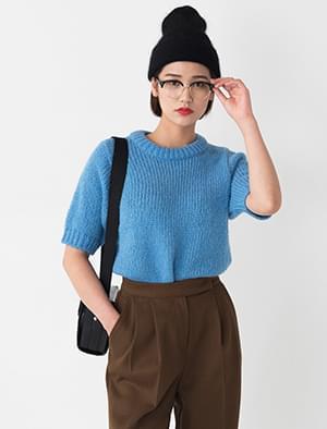 alpaca half sleeve knit