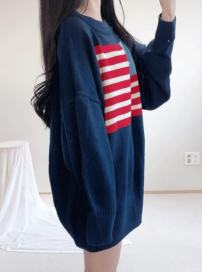 ♥ USA box knit ops