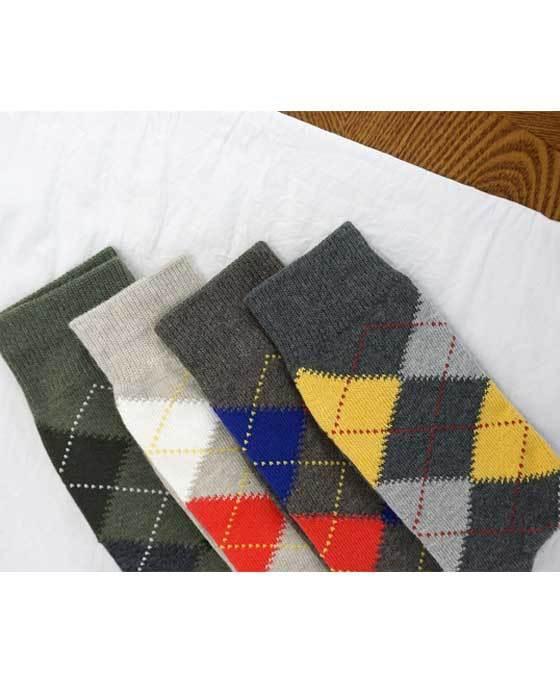 Argyle socks 4color