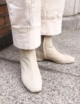 Corduroy ankle boots_K (size : 225,230,235,240,245,250)