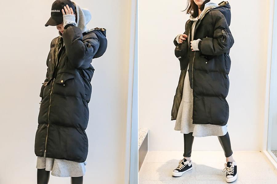 Hooded long padding _jp02780