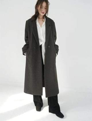 crude mannish long coat (3colors)