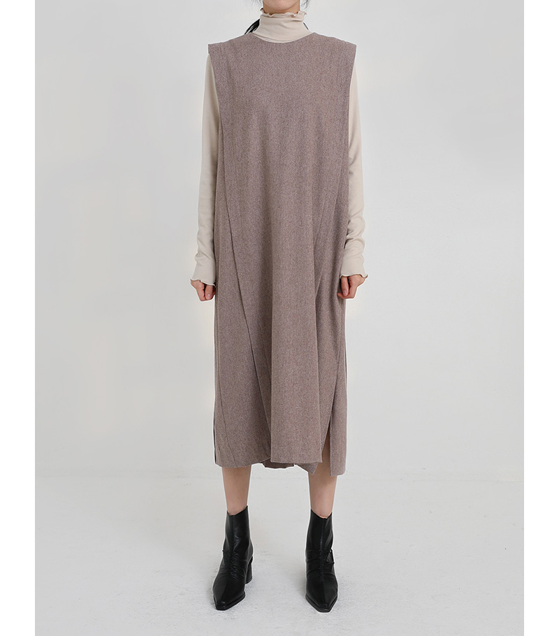 stay wool vest one-piece (2colors)