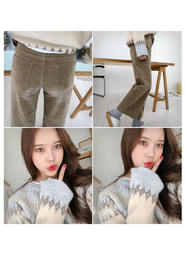 Tension dual corduroy pants