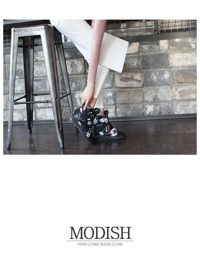 [Disney genuine] modish Kippo fur boots 5.5cm