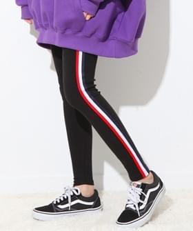 Side three-color leggings