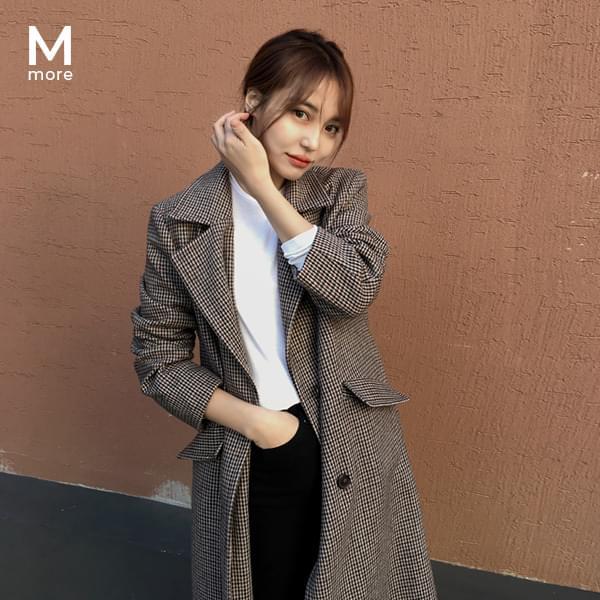 [MADE] 클래식 체크 울 코트