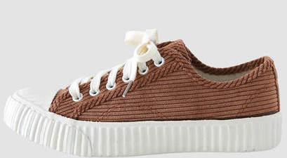 Corduroy sneakers 3cm